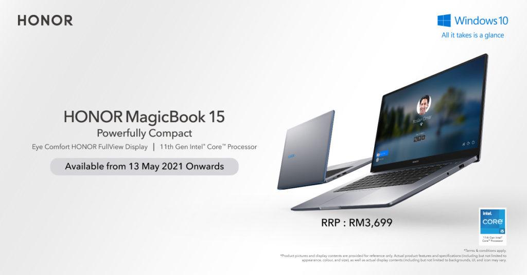 Honor MagicBook 15 dengan cip Intel Core i5 (Gen-11) kini di Malaysia pada harga RM 3,699 8