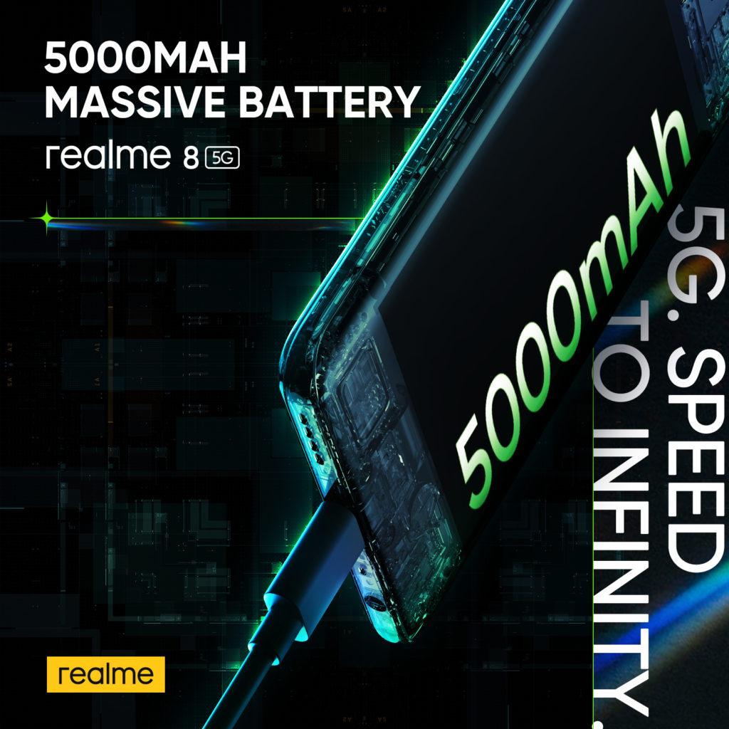realme 8 5G - Telefon Pintar 5G Dengan Skrin Paparan 90Hz & Teknologi Inovatif Dynamic RAM Expansion Pada Harga Mesra Poket 27