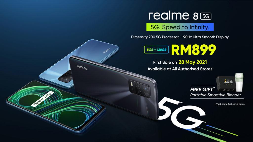 realme 8 5G - Telefon Pintar 5G Dengan Skrin Paparan 90Hz & Teknologi Inovatif Dynamic RAM Expansion Pada Harga Mesra Poket 32