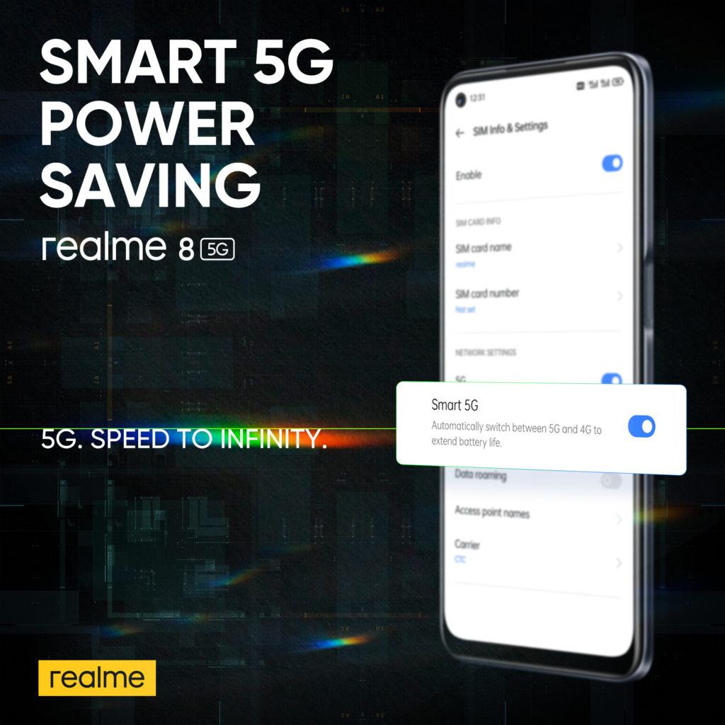 realme 8 5G - Telefon Pintar 5G Dengan Skrin Paparan 90Hz & Teknologi Inovatif Dynamic RAM Expansion Pada Harga Mesra Poket 28