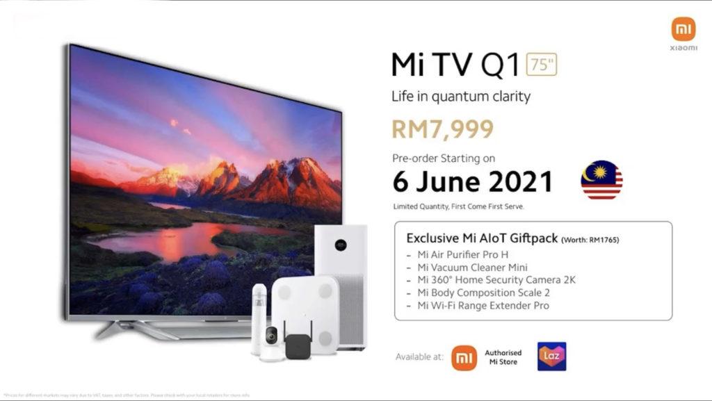 "Xiaomi Mi TV P1 Series & Mi TVQ1 75"" kini rasmi di Malaysia - harga promosi dari RM 899 sahaja 14"
