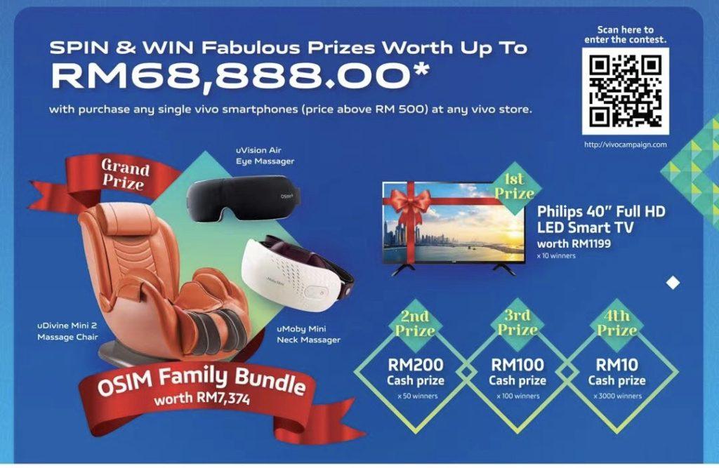 Kempen Vivo Hati Rapat , Raya Berkat tawar hadiah bernilai RM 68K dengan pembelian telefon pintar Vivo 6