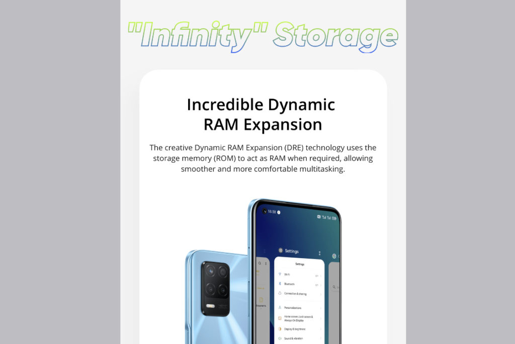 realme 8 5G - Telefon Pintar 5G Dengan Skrin Paparan 90Hz & Teknologi Inovatif Dynamic RAM Expansion Pada Harga Mesra Poket 31