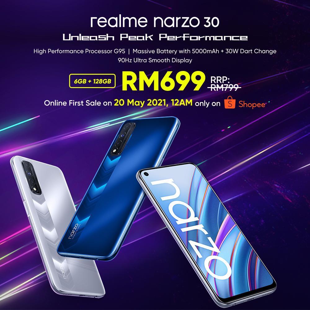 realme narzo 30 kini rasmi di Malaysia - hanya RM 699 pada jualan pertama di Shopee pada 20 Mei ini 9