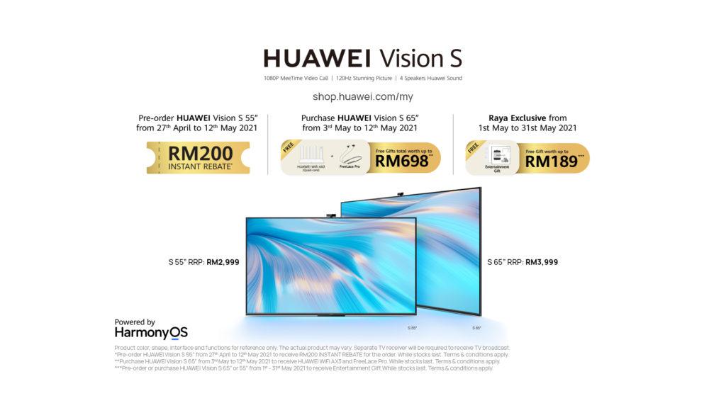 """Dapatkan rebat RM 200 bagi HUAWEI Vision S 55"""" dengan membuat pra-tempahan sebelum 12 Mei ini 3"""