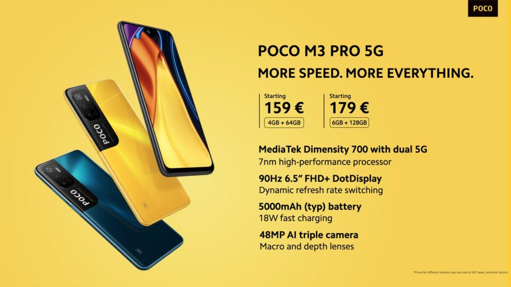 Poco M3 Pro 5G kini rasmi dengan MediaTek Dimensity 700 dan skrin 90Hz FHD+ - harga dari RM 803 21