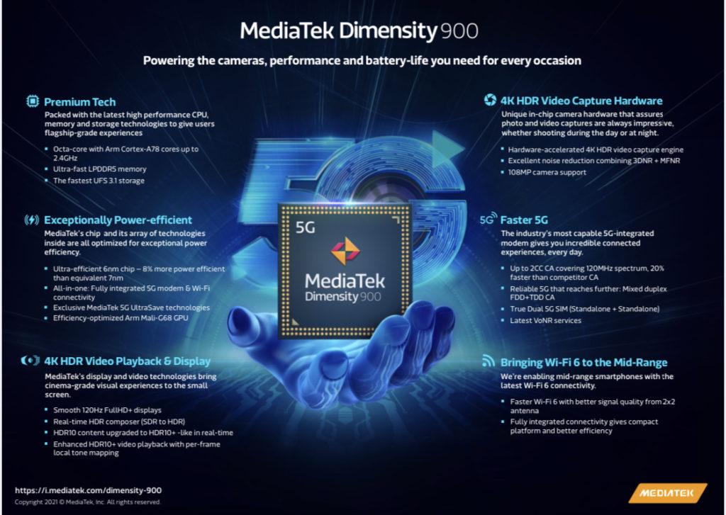 MediaTek secara rasminya telah melancarkan cip midrange Dimensity 900 15