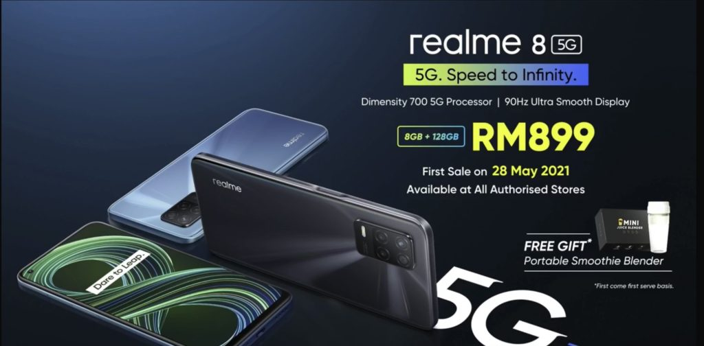 realme 8 5G kini rasmi di Malaysia pada harga RM 899 - Diskaun RM 100 bagi pembelian di Lazada 20