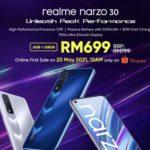 realme narzo 30 kini rasmi di Malaysia – hanya RM 699 pada jualan pertama di Shopee pada 20 Mei ini