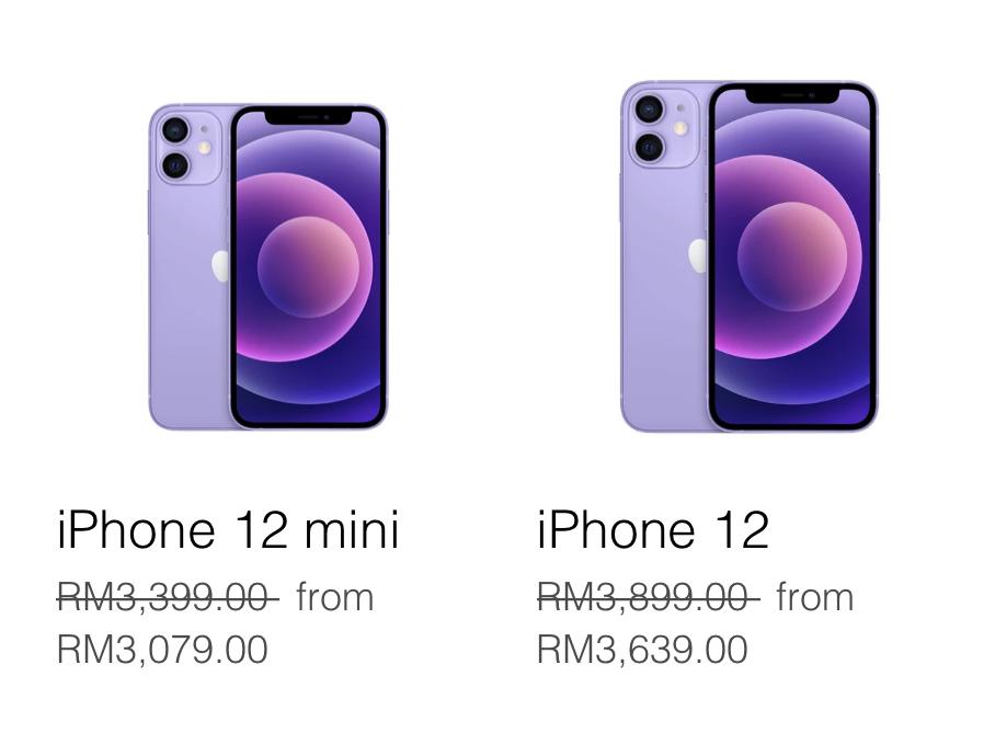 Apple iPhone 12 dan iPhone 12 Mini Purple kini ditawarkan di Malaysia 9