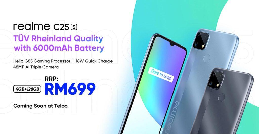 realme C25s kini rasmi di Malaysia pada harga RM 699 sahaja - mula ditawarkan 12 Jun 2021 9