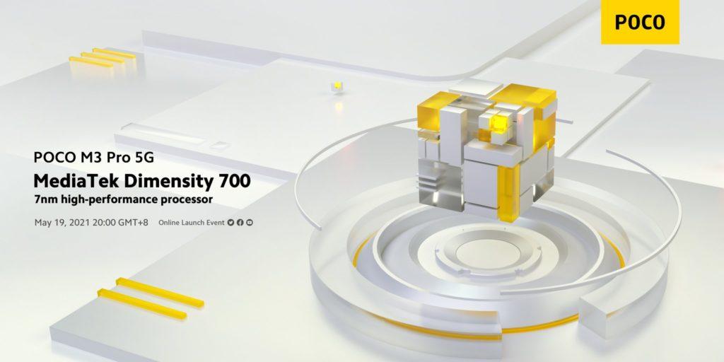 Poco M3 Pro 5G akan dilancarkan 19 Mei ini - hadir dengan skrin 90Hz dan cipset Dimensity 700 12
