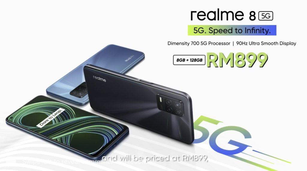 realme 8 5G kini rasmi di Malaysia pada harga RM 899 - Diskaun RM 100 bagi pembelian di Lazada 15