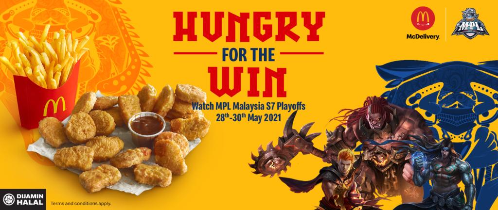 Mobile Legends: Bang Bang dan McDelivery umum kerjasama untuk menyajikan 'meal' yang epik bagi peminat-peminat MPL Malaysia 9