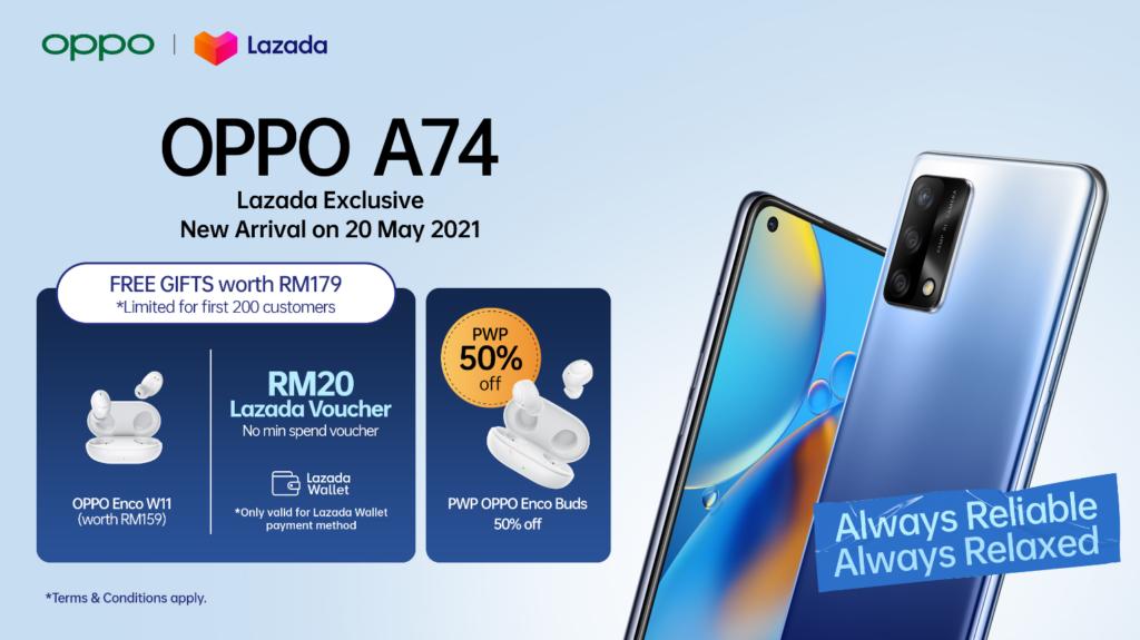 OPPO A74 4G tiba di Malaysia 20 Mei ini - harga promosi serendah RM 799 sahaja 3