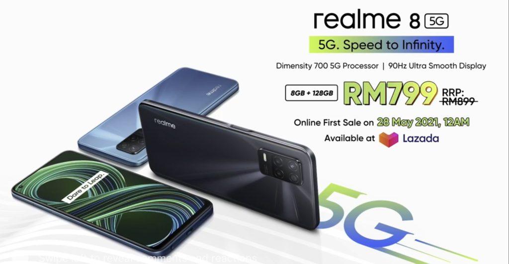 realme 8 5G kini rasmi di Malaysia pada harga RM 899 - Diskaun RM 100 bagi pembelian di Lazada 21