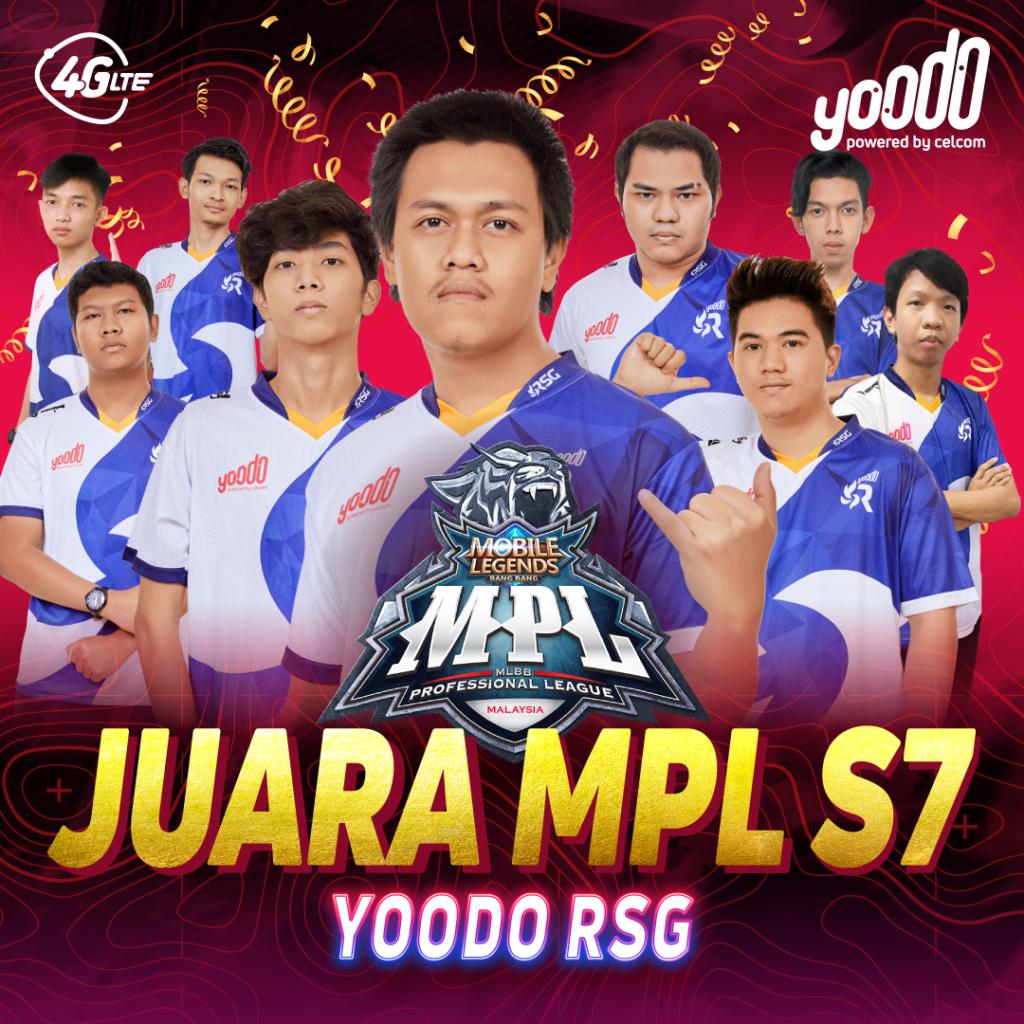 Yoodo RSG MLBB berjaya menjuarai kejohanan Moonton Mobile Legends: Bang Bang MPL Malaysia musim ke-7 3
