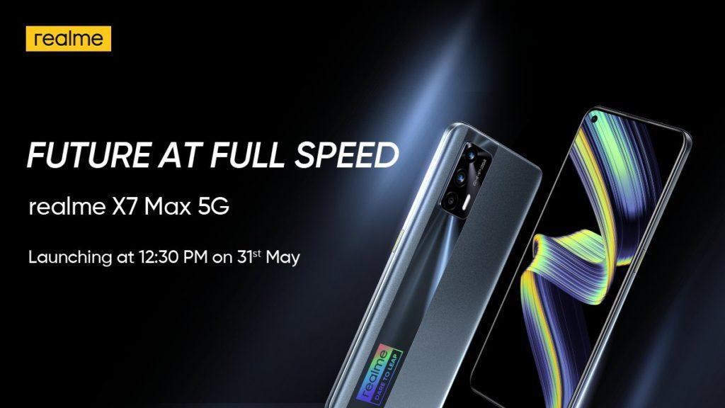 realme X7 Max 5G akan dilancarkan 31 Mei - skrin AMOLED 120Hz dan cip Dimensity 1200 5