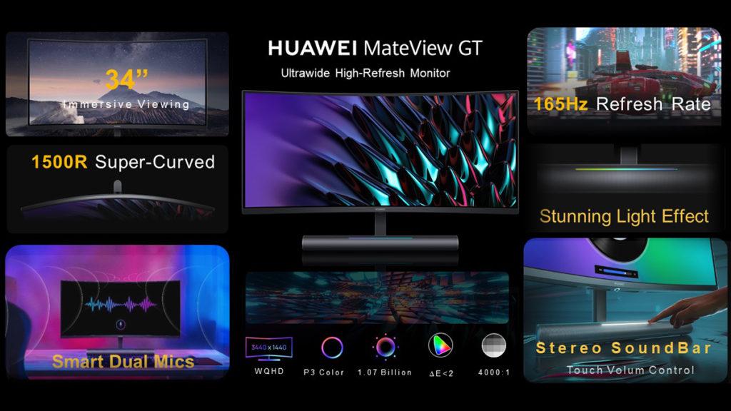 Monitor Gaming HUAWEI MateView GT 165Hz kini rasmi - Monitor MateView juga diumumkan 21