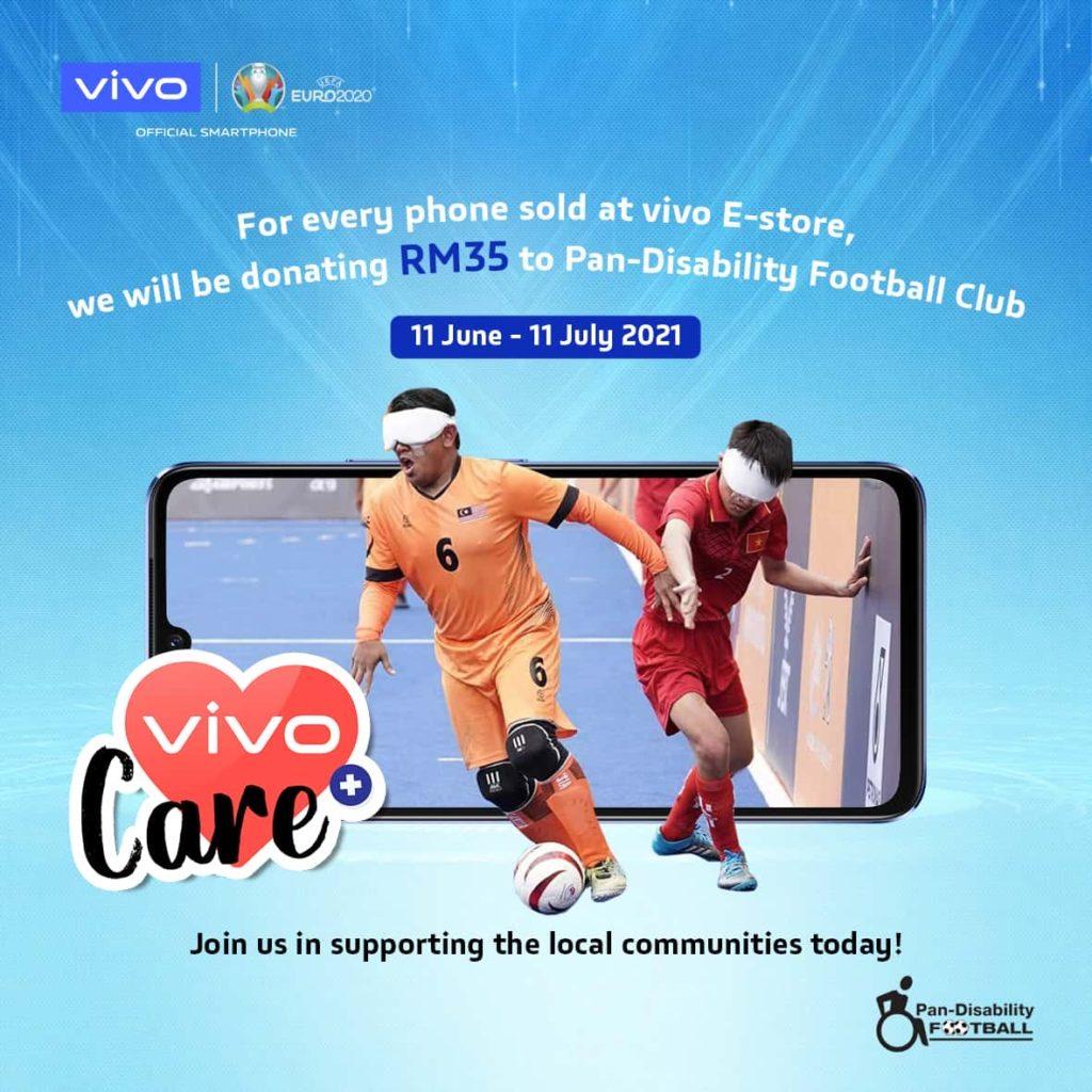 Kempen Vivo Dream Field : Vivo akan menderma RM 35 kepada kelab bola sepak kurang upaya bagi setiap peranti vivo yang dijual di vivo eStore 8