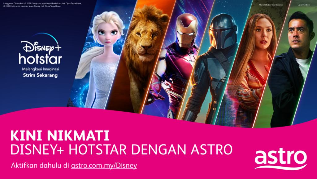 Disney+ Hotstar kini mula bersiaran di Malaysia - Hanya RM 5 sebulan untuk pelanggan Astro Movie Pack 6