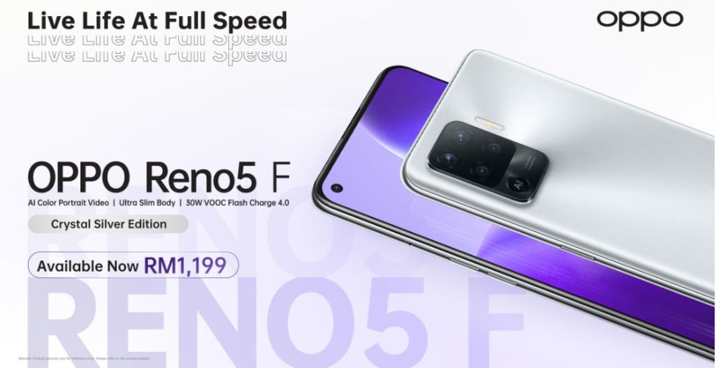 Oppo Reno5 F edisi Crystal Edition kini rasmi di Malaysia pada harga RM 1,119 3