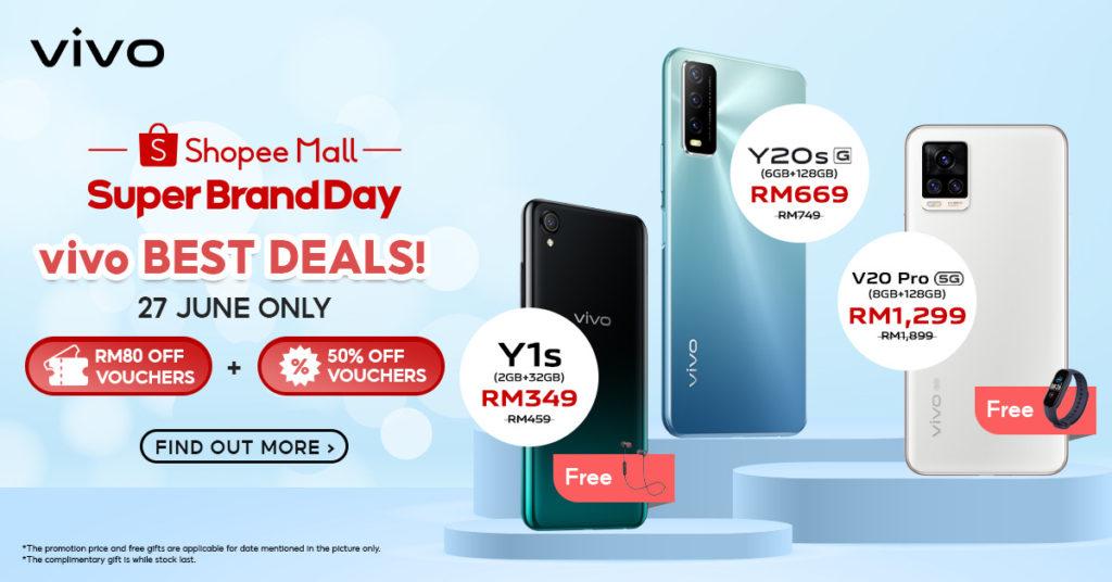 Vivo x Shopee Super Brand Day akan berlangsung pada 27-29 Jun ini - Dapatkan vivo Y1s pada harga RM 77 sahaja 10