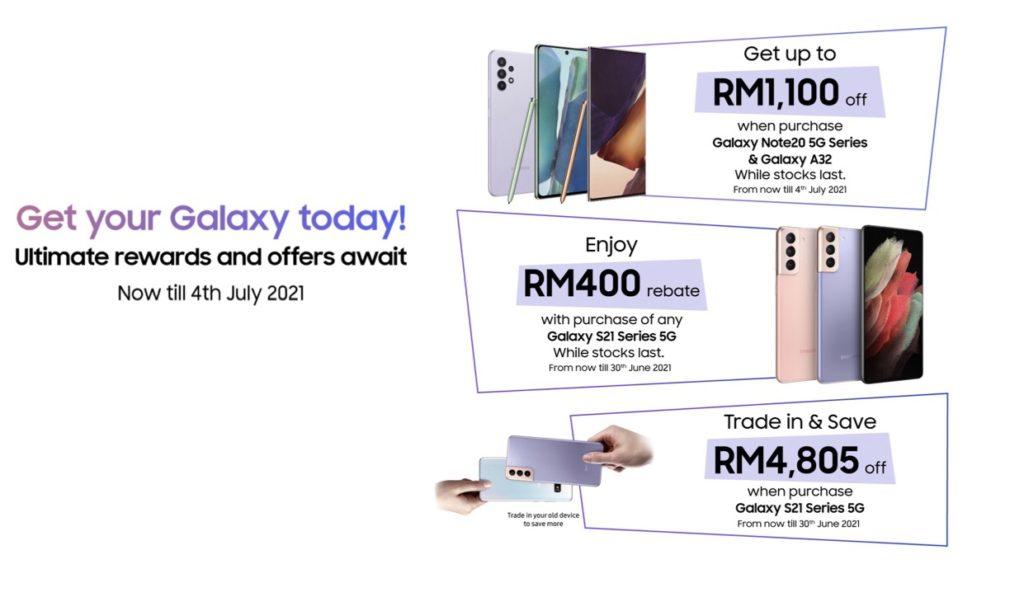 Samsung menawarkan diskaun RM 1,100 bagi pembelian telefon pintar Galaxy yang terpilih 11