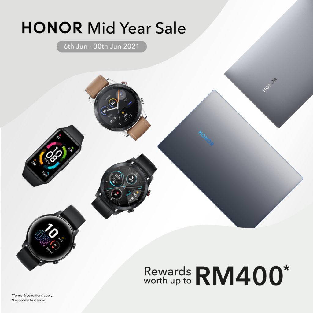 Honor Mid Year Sale bakal berlangsung mulai 6 Jun ini 7