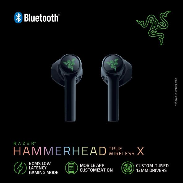 Razer Hammerhead True Wireless X dengan 28 jam waktu pendengaran kini rasmi pada harga RM 349 9