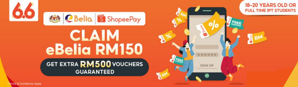 ShopeePay catat 500,000 tuntutan eBelia pada hari pertama penebusanan - ganjaran tambahan sehingga RM 500 turut ditawarkan 5