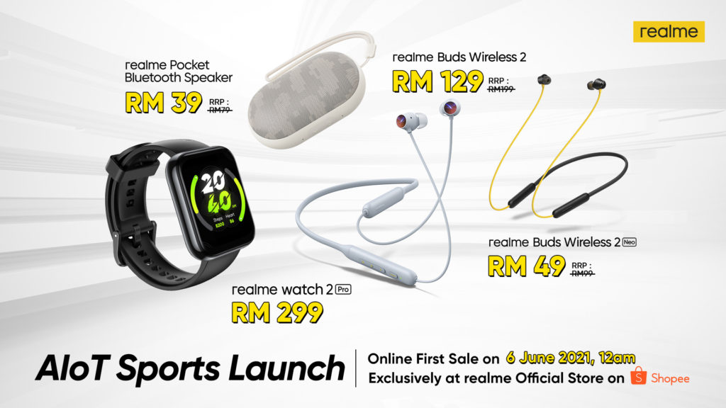 realme akan menawarkan beberapa produk AIoT terbaru pada Shopee 6.6 Awesome Sale - serendah RM 39 5