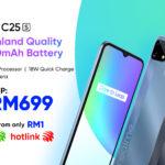 realme C25s kini ditawarkan pada harga RM 1 melalui pelan Maxis dan Hotlink