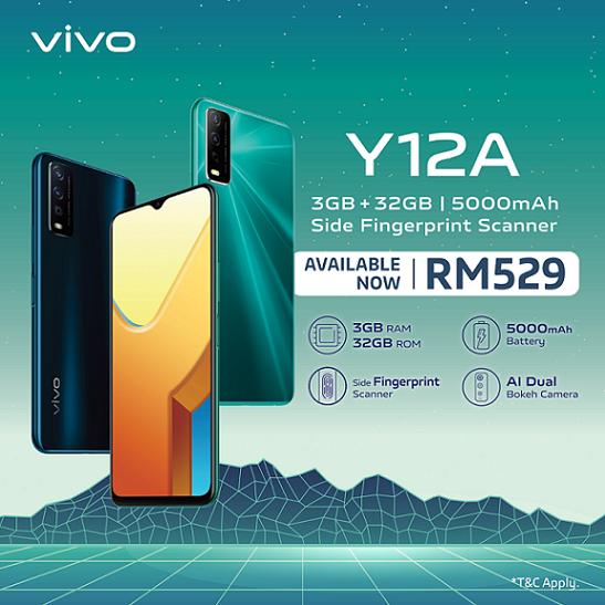 Vivo Y12A kini ditawarkan di Malaysia pada harga RM 529 sahaja 5