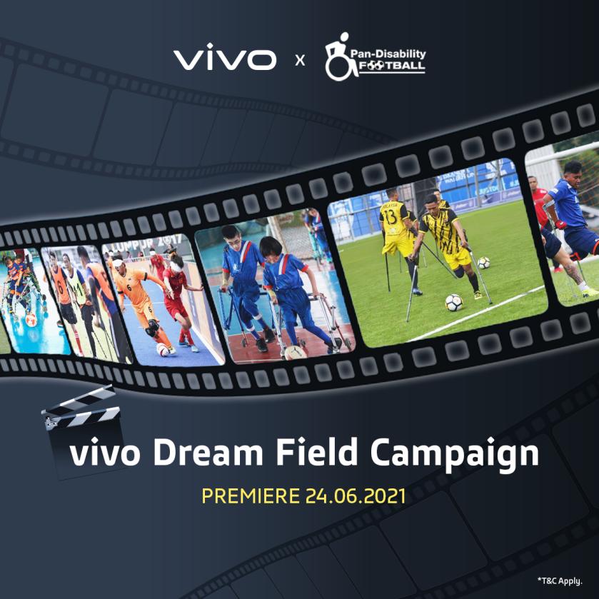 Kempen Vivo Dream Field : Vivo akan menderma RM 35 kepada kelab bola sepak kurang upaya bagi setiap peranti vivo yang dijual di vivo eStore 7