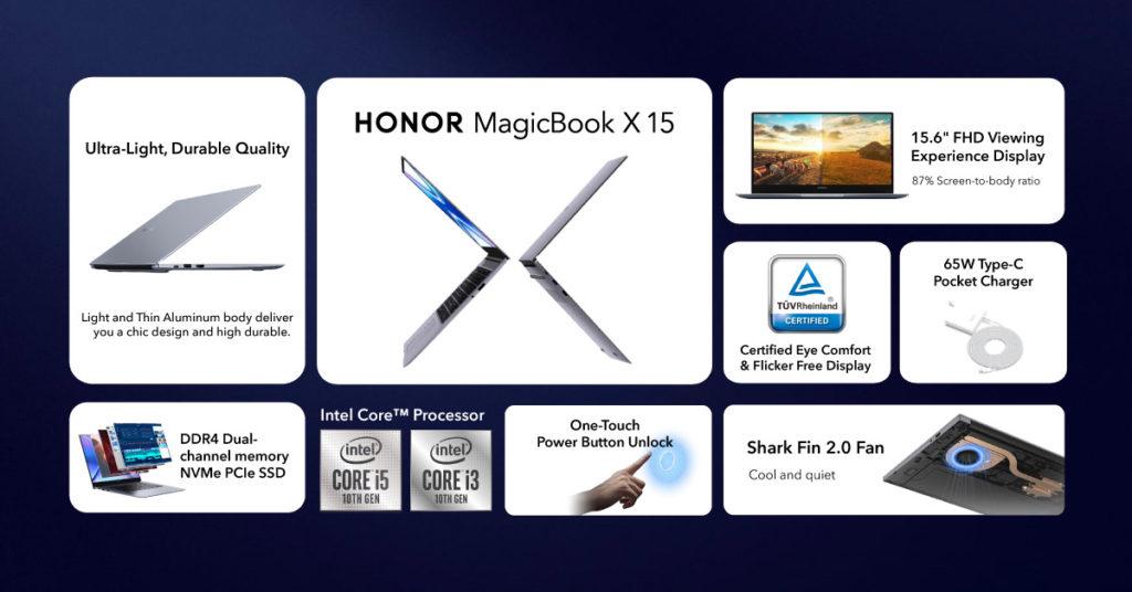 Honor MagicBook X 15 akan mula ditawarkan di Malaysia pada 19 Jun ini - harga dari RM 2,299 8
