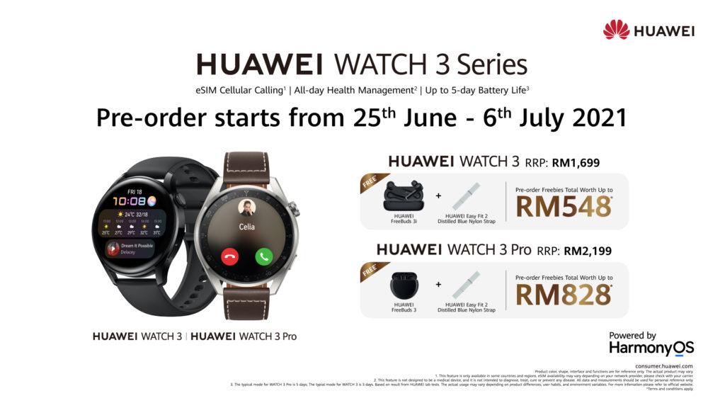 HUAWEI Watch 3 & Watch 3 Pro kini rasmi di Malaysia pada harga dari RM 1,699 6