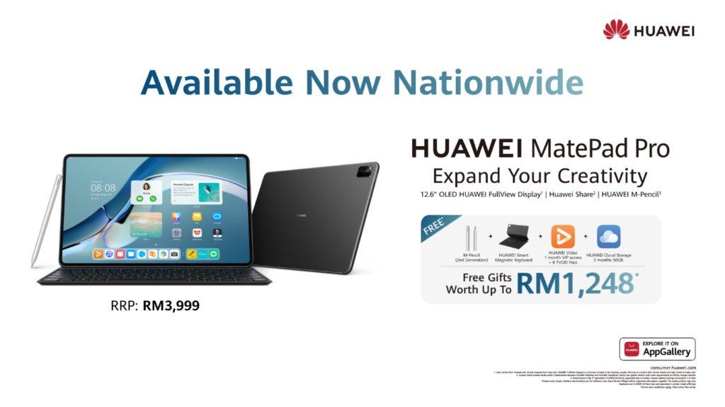 HUAWEI MatePad Pro 12.6 dengan HarmonyOS kini ditawarkan di Malaysia pada harga RM 3,999 9