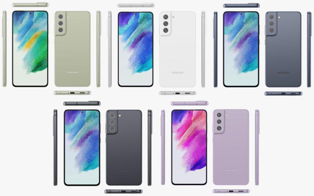 Samsung Galaxy S21 FE akan hadir dengan harga yang lebih rendah - 5 pilihan warna 5
