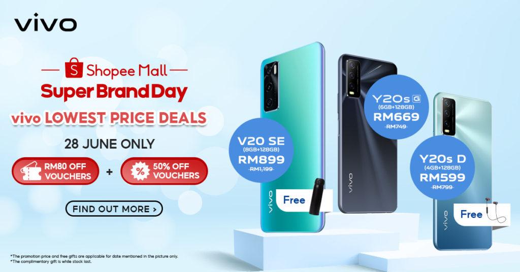 Vivo x Shopee Super Brand Day akan berlangsung pada 27-29 Jun ini - Dapatkan vivo Y1s pada harga RM 77 sahaja 11