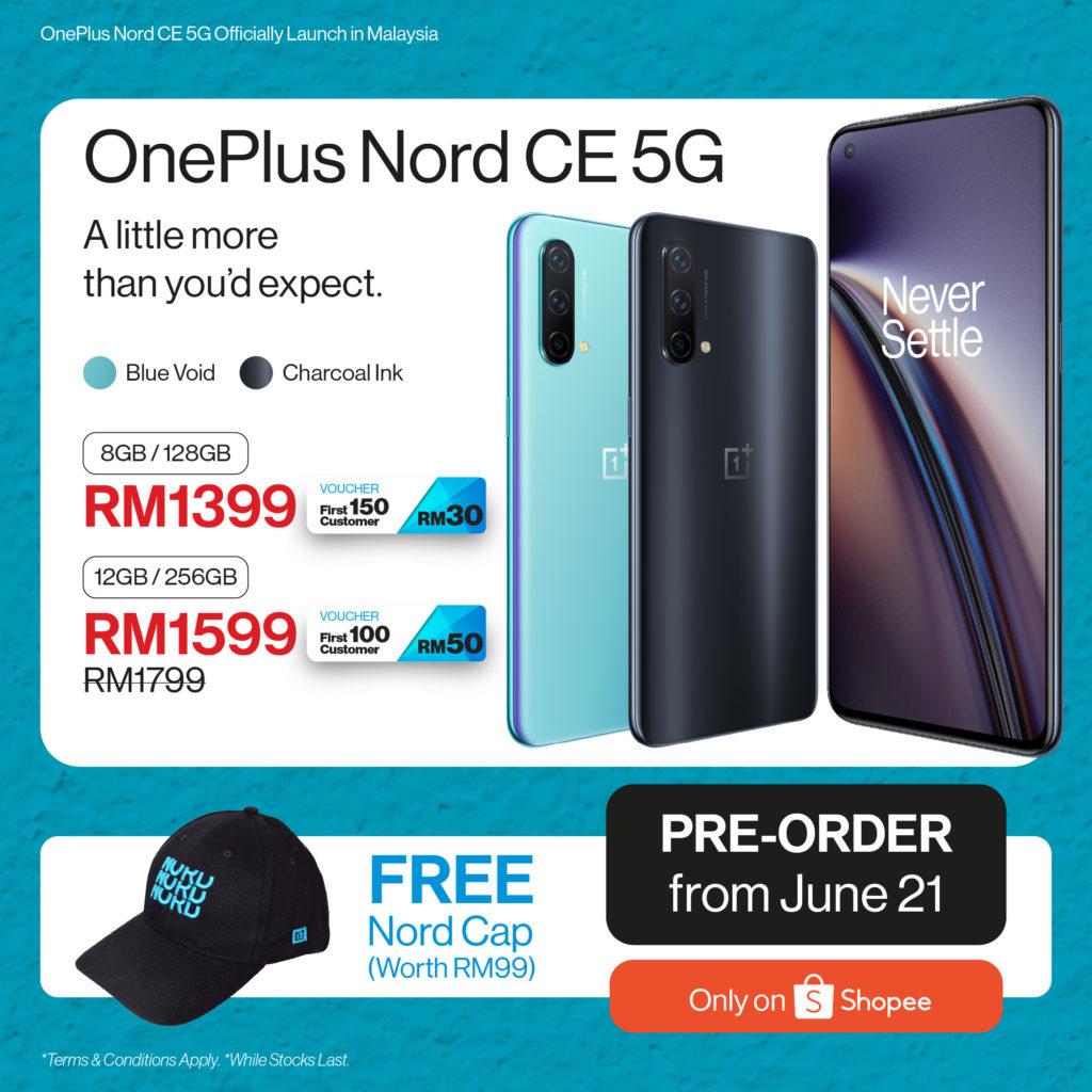 OnePlus Nord CE 5G kini rasmi di Malaysia pada harga dari RM 1,399 sahaja 7
