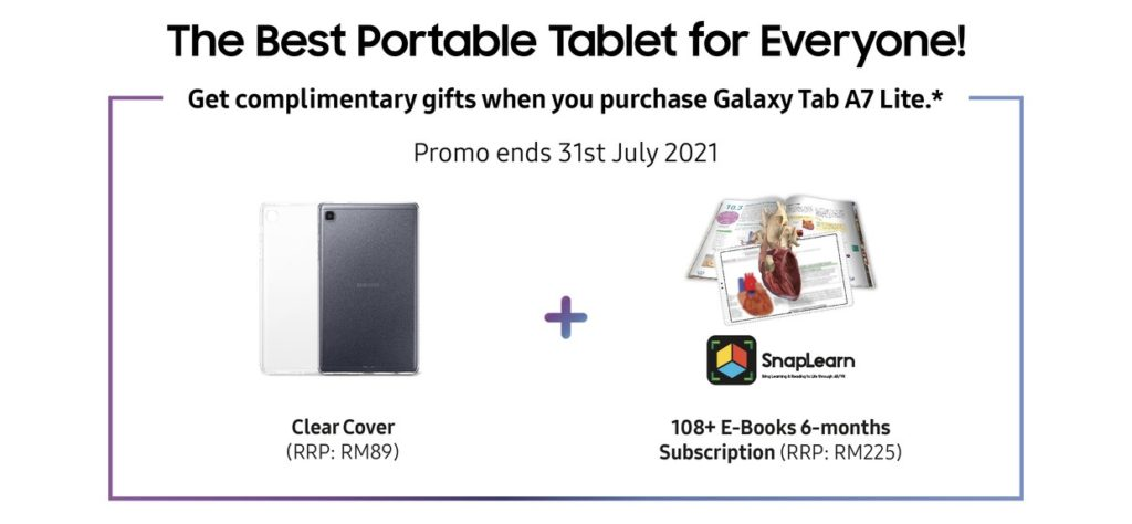 Samsung Galaxy Tab A7 Lite kini ditawarkan di Malaysia pada harga RM 699 - peranti PdPR mampu milik 12