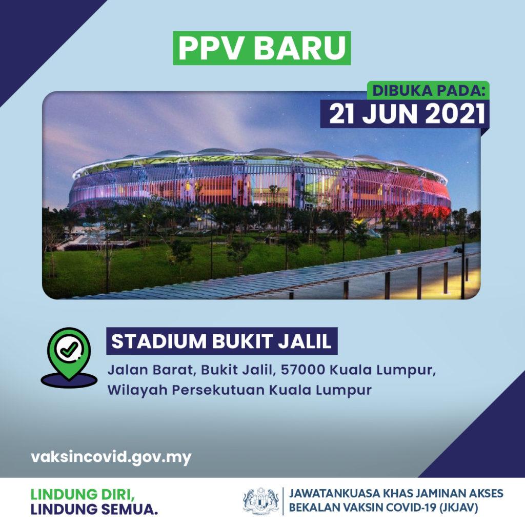 PPV Stadium Bukit Jalil akan dibuka 21 Jun ini dengan kapasiti 10,000 penerima vaksin setiap hari 9