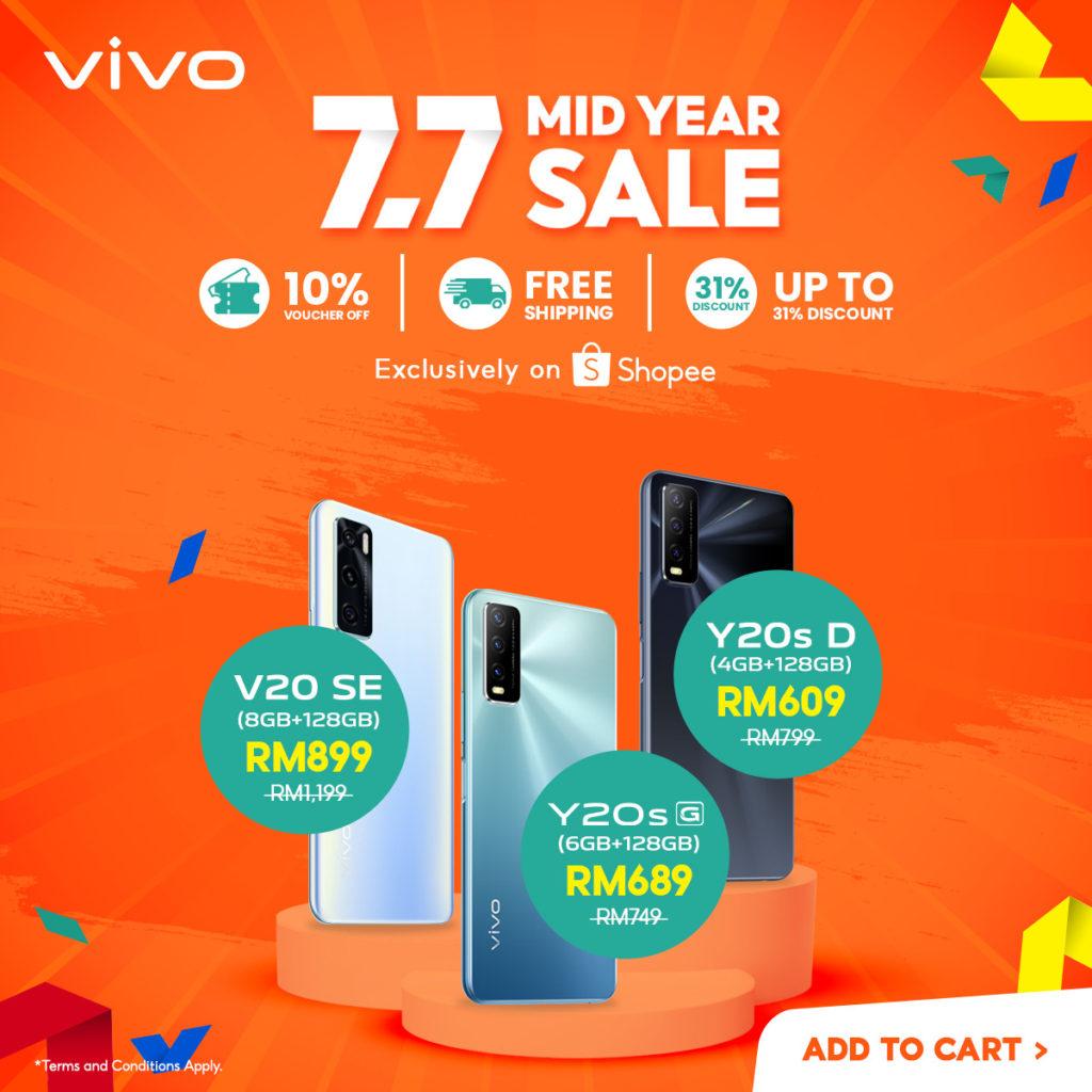 Vivo tawar diskaun bernilai sehingga RM 1,000 untuk telefon pintar terpilih pada 7 Julai ini di Shopee 5