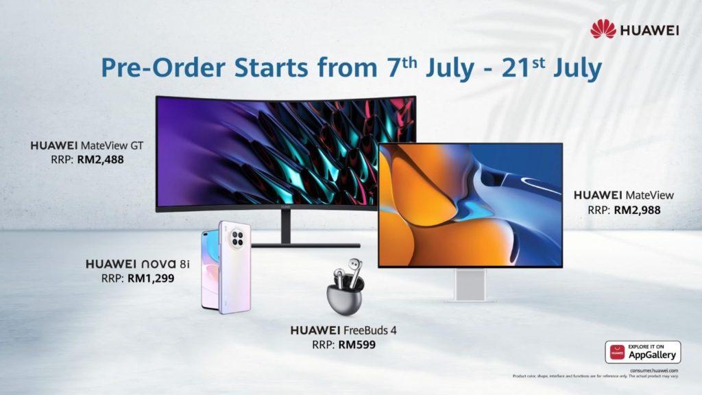 Promosi Pra-tempahan HUAWEI Nova 8i, FreeBuds 4, MateView dan MateView GT akan tamat hari ini 11