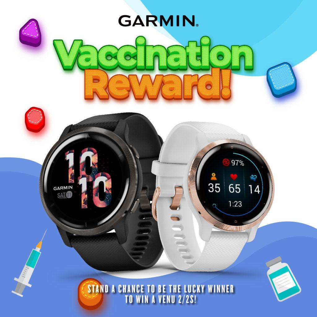 Dapatkan Vaskin dan menangi jam Garmin Venu 2 atau 2s bernilai RM 1,799 melalui pertandingan #GarminCucukReward 5