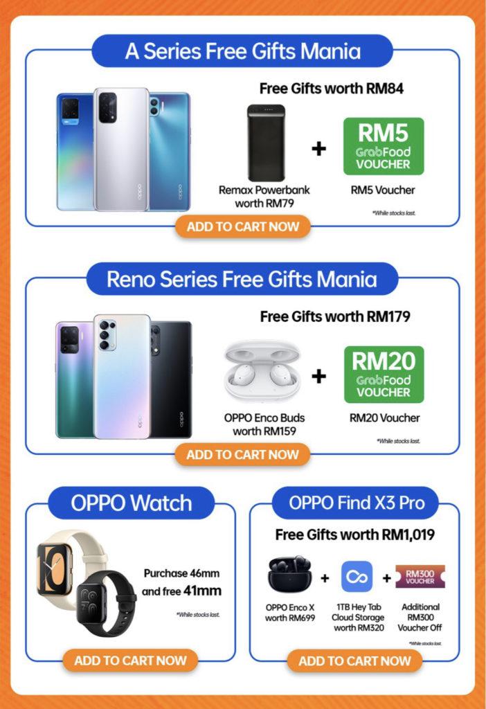 Berikut adalah promosi Oppo 7.7 di Shopee - Beli 1 Percuma 1 bagi Oppo Watch 9