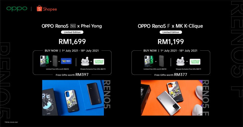 OPPO Reno5 5G dan Reno5 F Edisi Terhad kini ditawarkan pada harga dari RM 1,199 sahaja 9