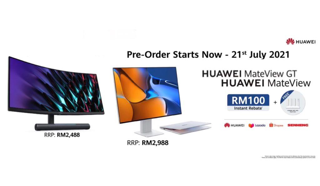 Monitor Gaming HUAWEI MateView GT dan MateView kini rasmi di Malaysia pada harga dari RM 2,488 21
