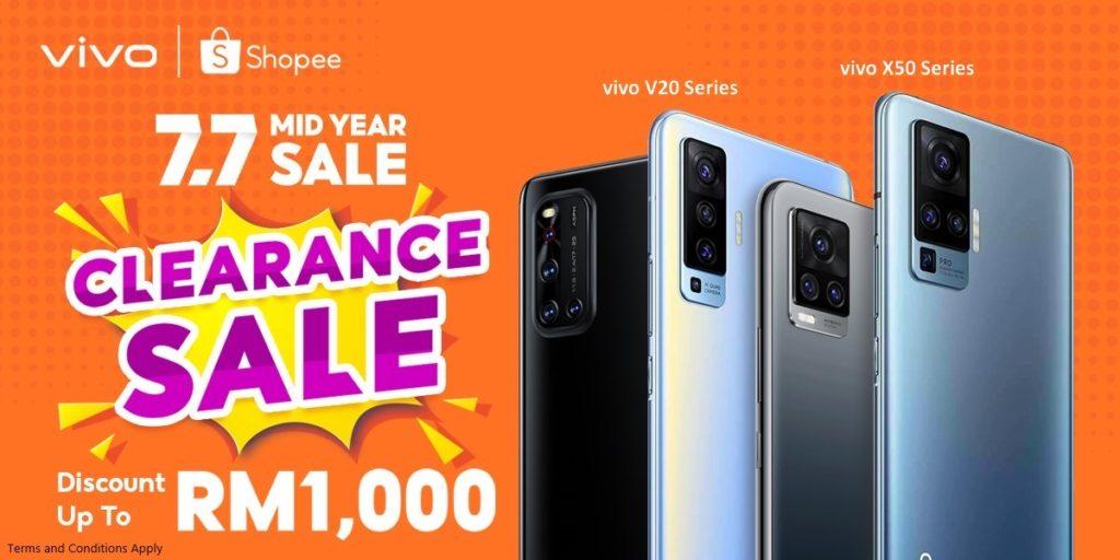 Vivo tawar diskaun bernilai sehingga RM 1,000 untuk telefon pintar terpilih pada 7 Julai ini di Shopee 6